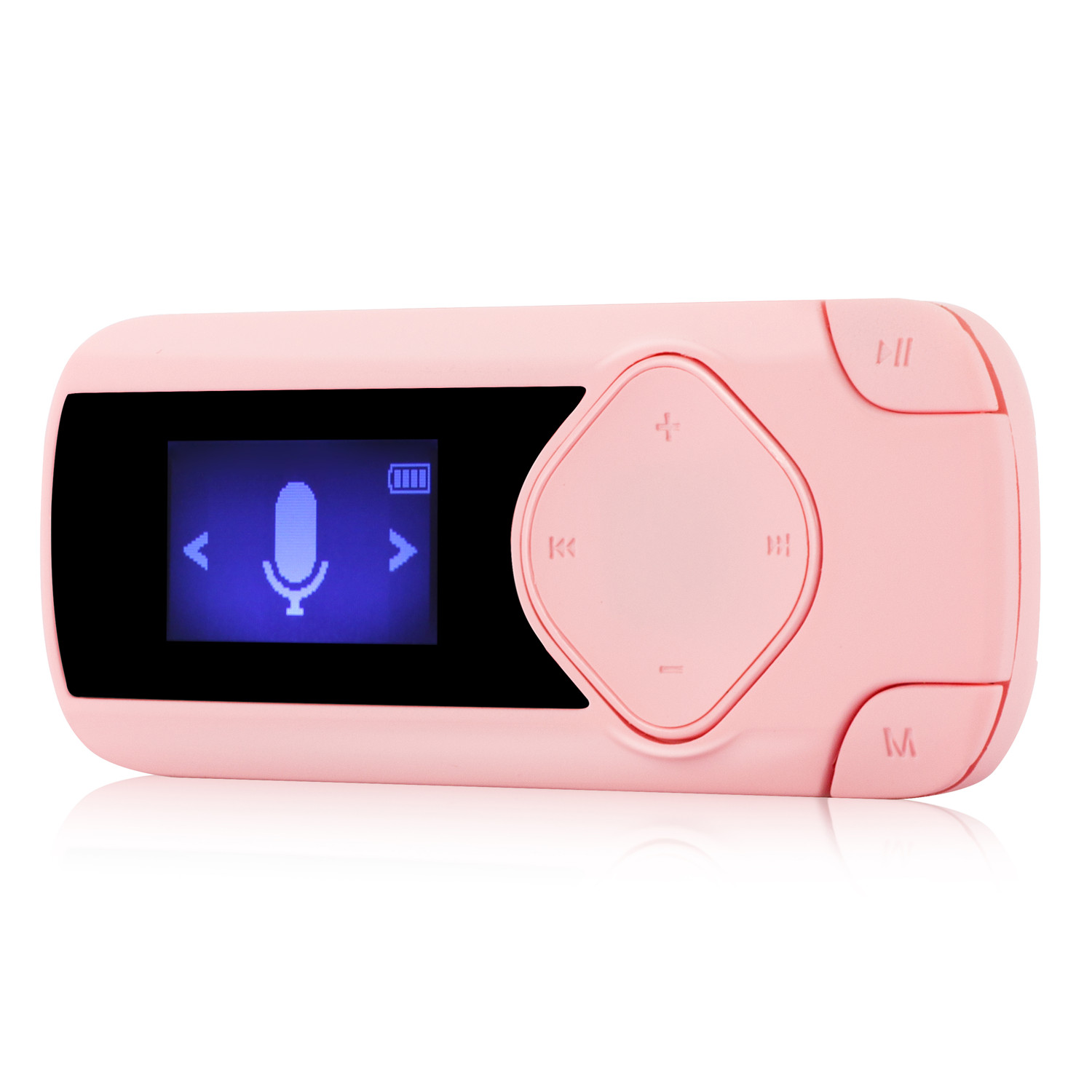 AGPtEK R2 8GB Clip MP3 Player Digital Music Player for Jogging Running Gym(Supports up to 64GB), Pink