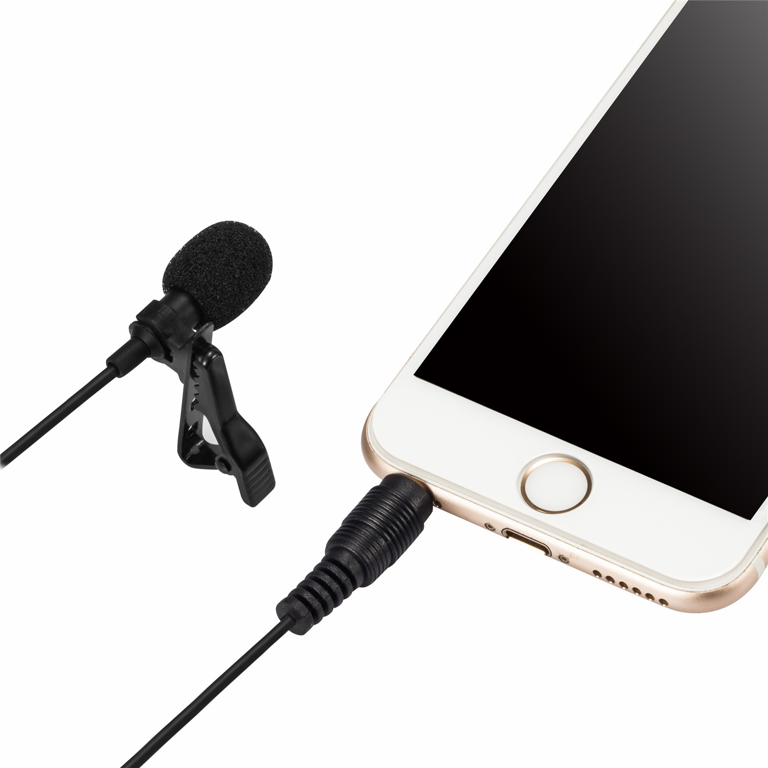 AGPtEK Lavalier Lapel Mic Clip-on Omnidirectional Condenser Microphone for iPhone, iPad, iPod Touch, Sony, LG, Blackberry and other Android Devices