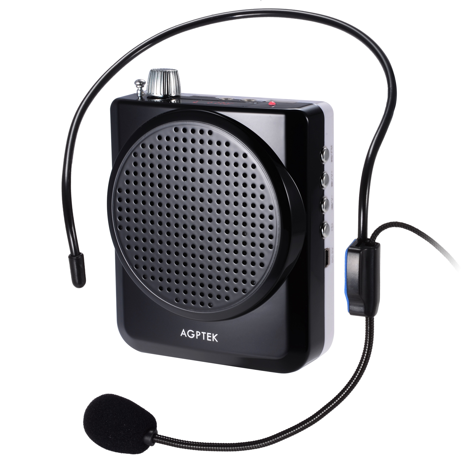 AGPtEK KY03 Portable Rechargeable Voice Amplifier Microphone Speaker Speakerphone For Teachers Coaches Tourist Guide lecturing Presentations Salesman