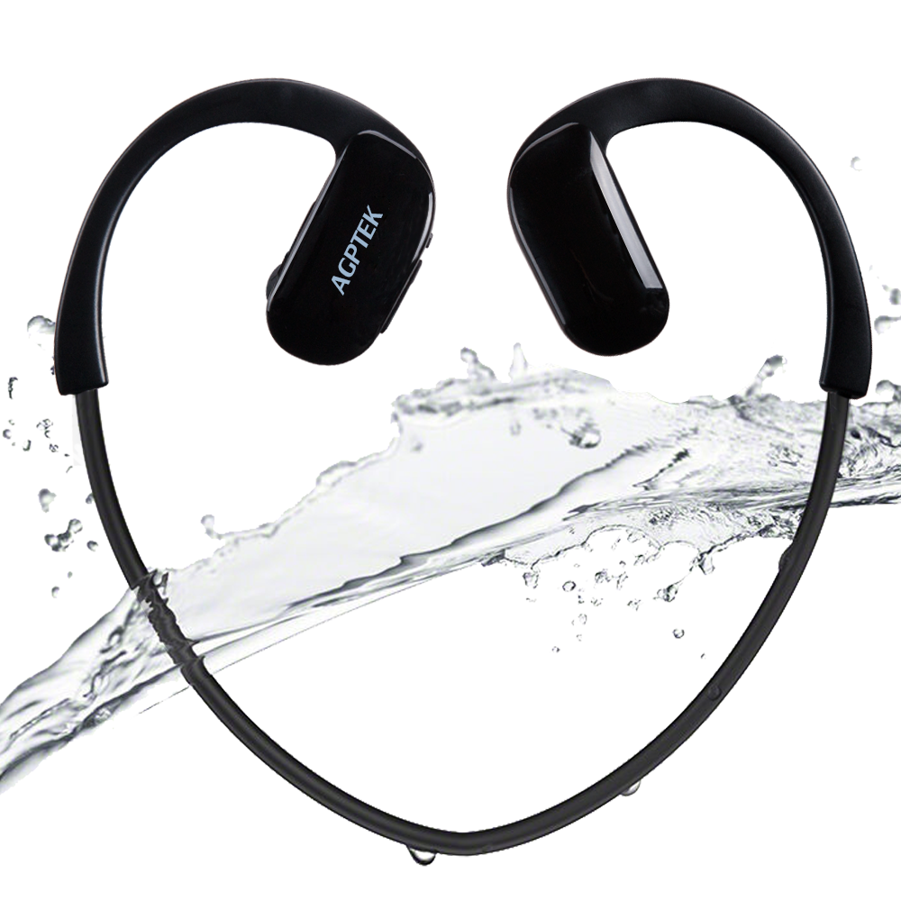 AGPtEK S11 8GB IPX8 Waterproof Sports MP3 Player,Black