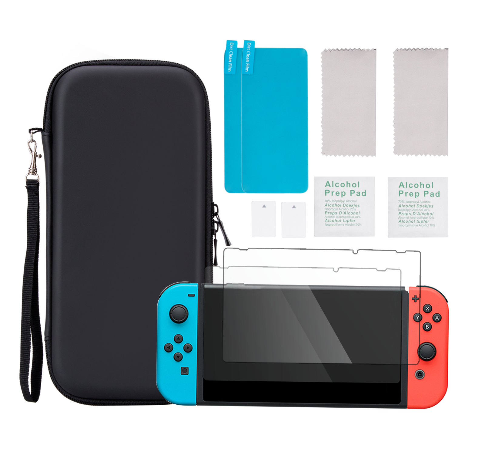 AGPTEK Carry Case with 2 Screen Protectors, Accessory Set for Nintendo Switch 2017
