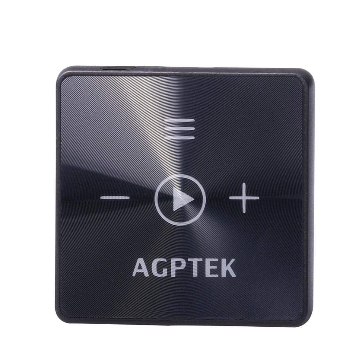 AGPtEK A15 8GB Bluetooth 4.2 MP3 Player,Sports Clip,HIFI Music Player,Black