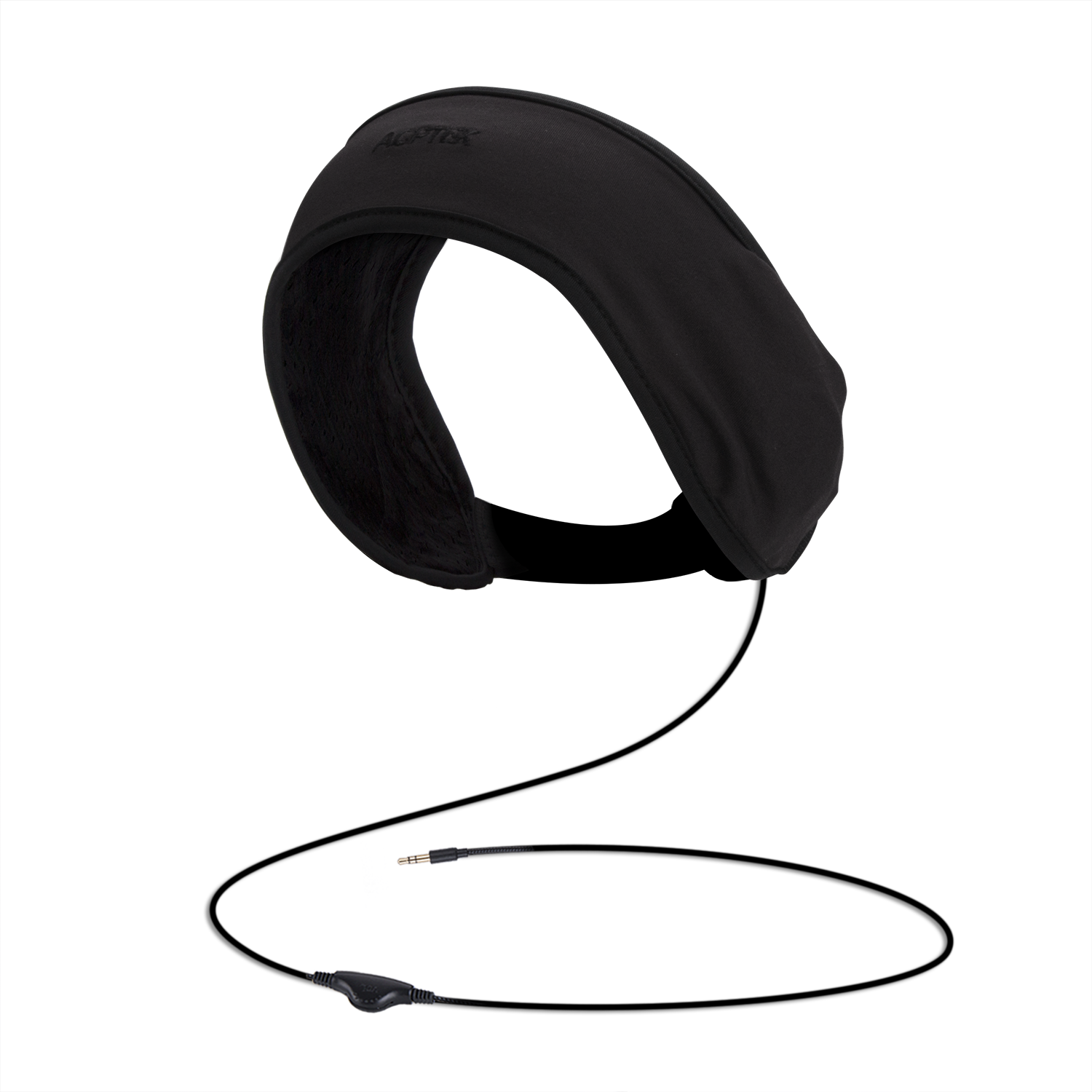 AGPTEK Sleep Headphones Soft Lycra Mesh Lining with Volume Control and Bag for Sleeping, Sports, Air Travel, Snoring, Insomnia, Meditation & Relaxation, Black