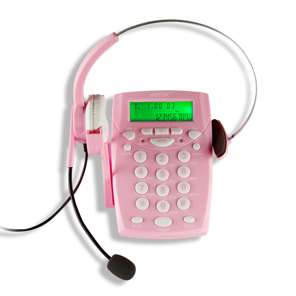 Office Call Center LCD Display Dialpad Headset Business Telephone ...