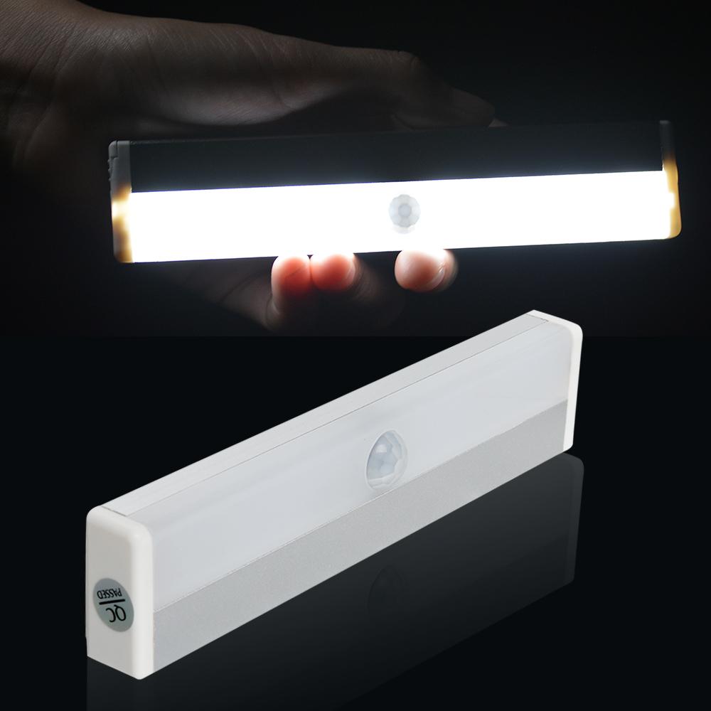 motion detector activated light sensor switch with 8 led battery powered indoor ebay. Black Bedroom Furniture Sets. Home Design Ideas