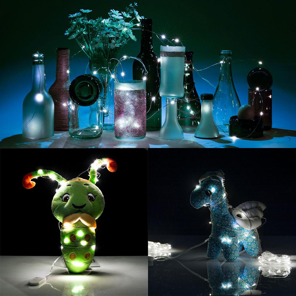 Cork Shaped LED Night Light Starry Light Wine Bottle Lamp for Party -3x30inch eBay