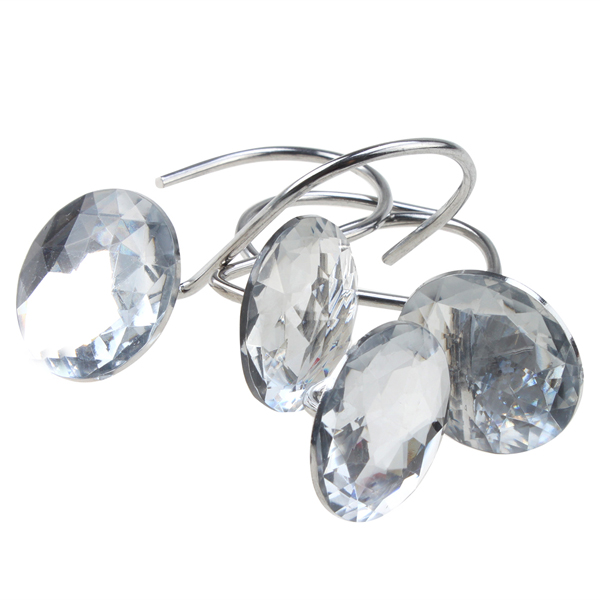 Diamond Shower Curtain Hooks