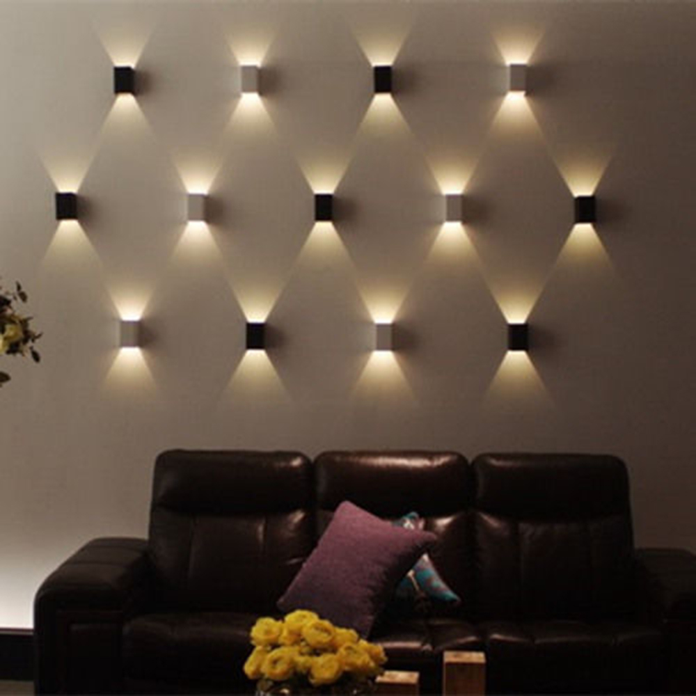 Bedroom modern wall lights - Modern 3w Led Square Wall Lamp Hall Porch Walkway Living Bedroom Light Fixture