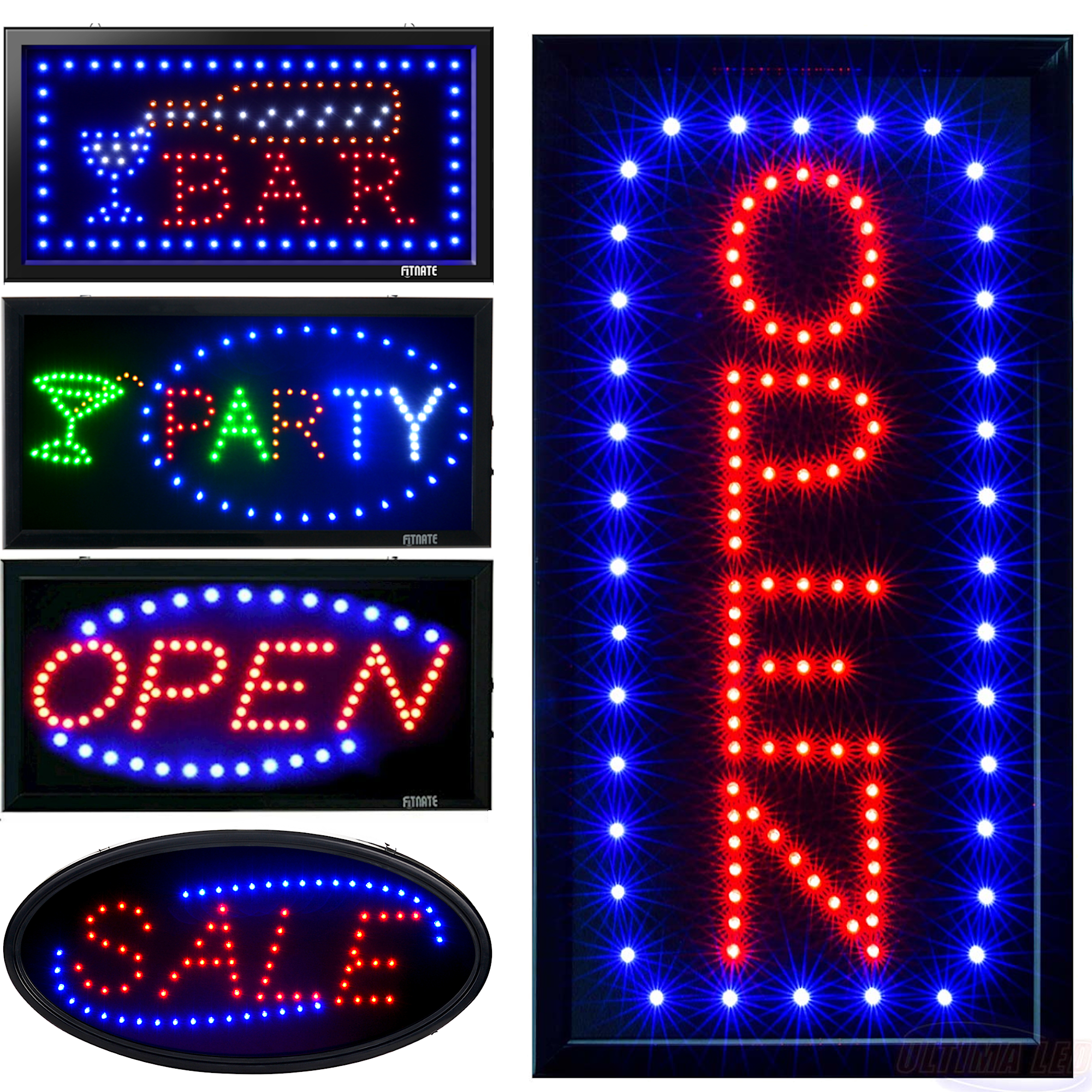 Business Sign Flashing 24 Hours Open Bar Club Shop Store ON//OFF LED Neon Light