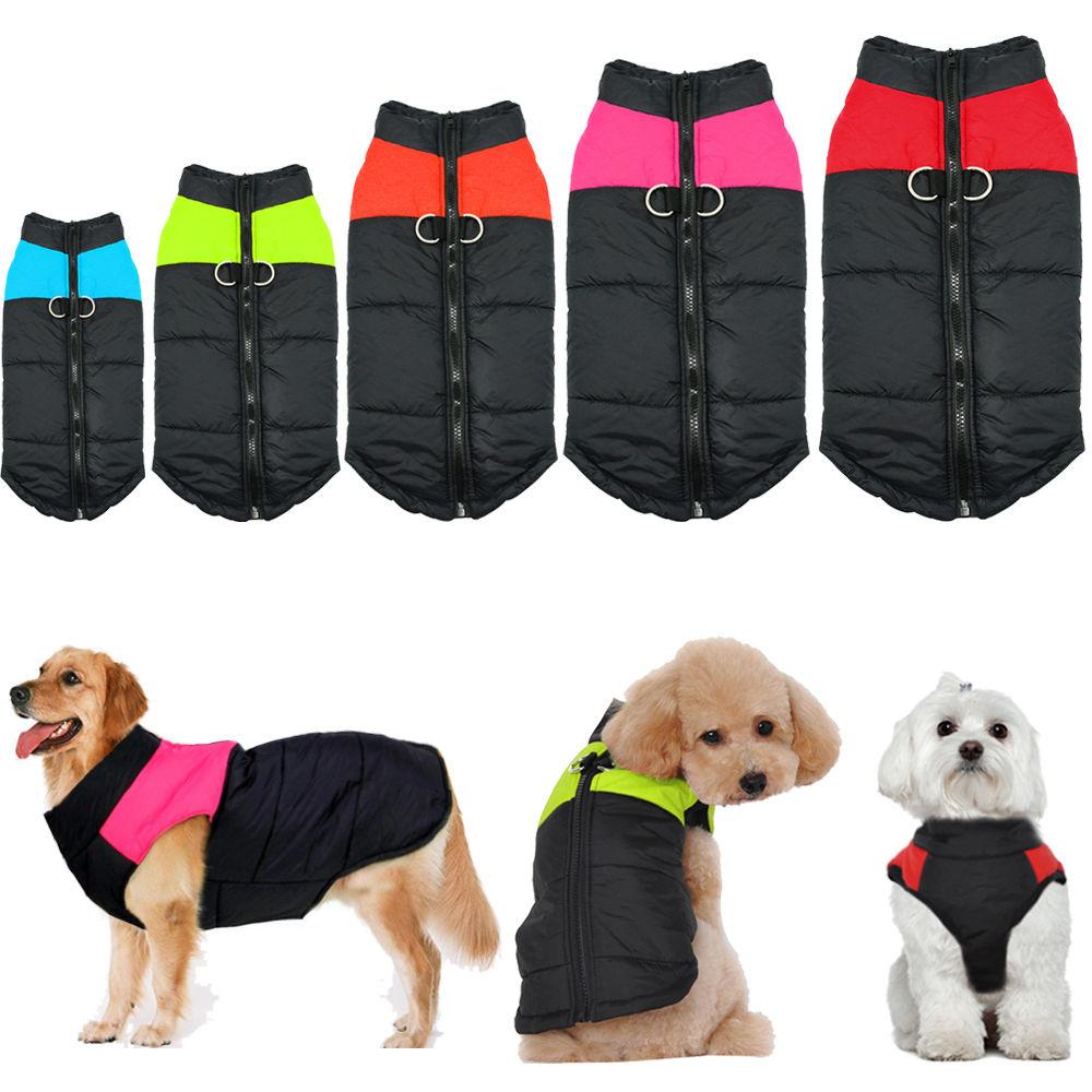 Waterproof Small Large Pet Dog Clothes Winter Warm Padded Coat Pet Vest Jacket Ebay