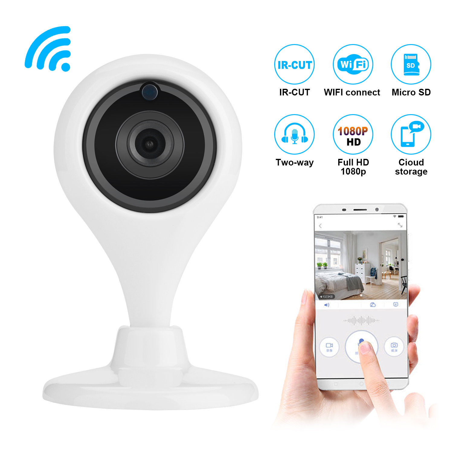 Details about 360° Wireless Wifi Smart Camera Home Security Surveillance  Video System Detector