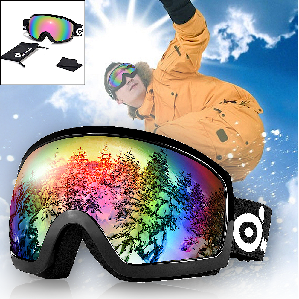 Lovely Children Snow Ski Goggles Anti Fog Uv400 Double Lens Winter Snowboard Glasses Googles For Boys Girls Ski Goggles Security & Protection