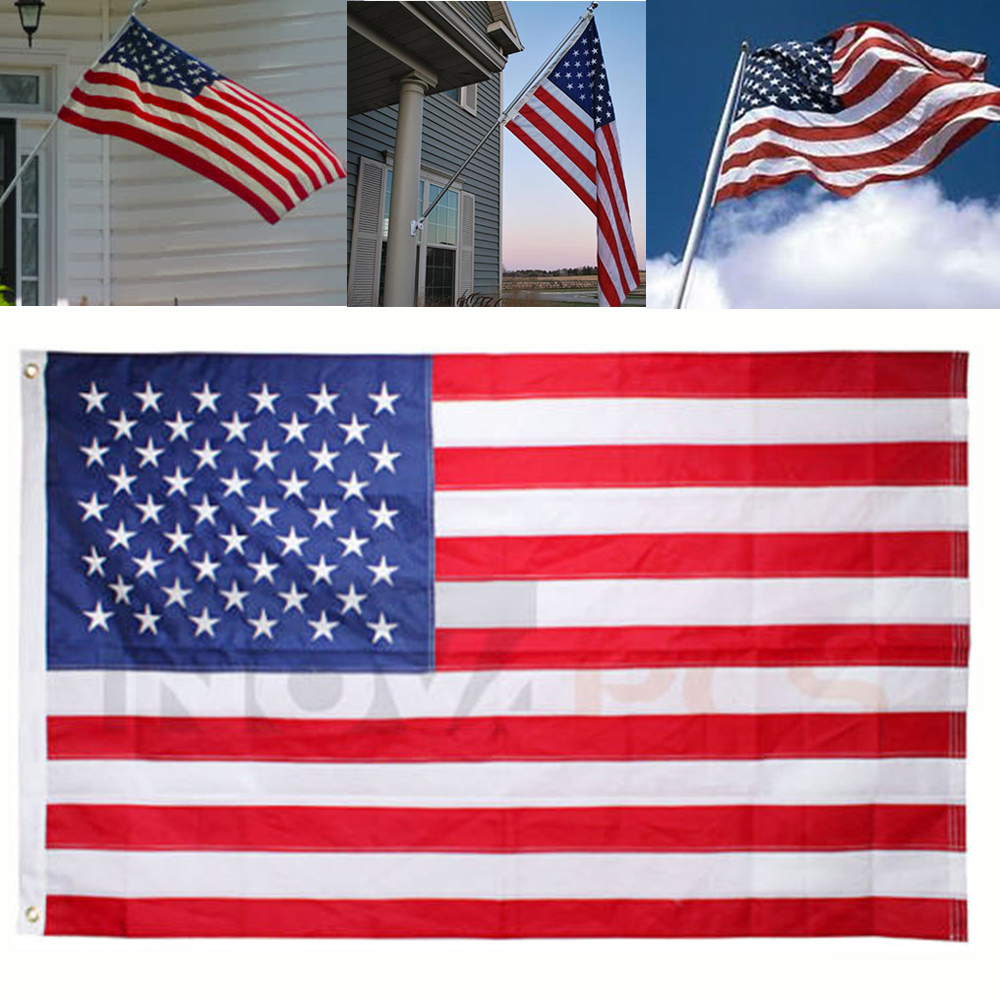 Embroidered 3x5 Nylon American Flag (Made in the USA)