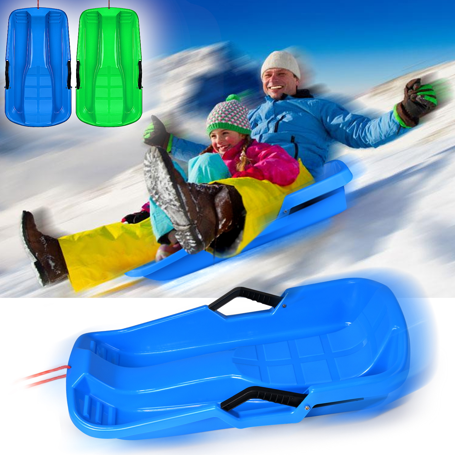 e39e95689 Toboggan Snow Sled Boat Board Sledge Pulling Seat Adult Kid Outdoor ...